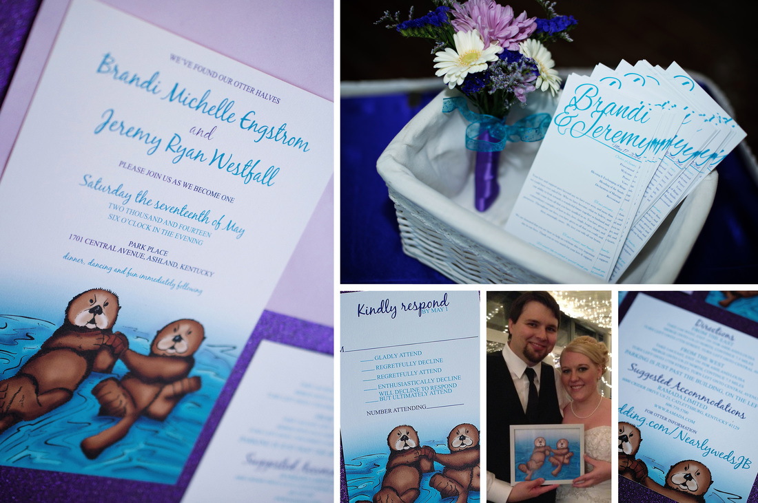 Otterly in Love Otter Wedding Invitation Suite by EAlexDesigns