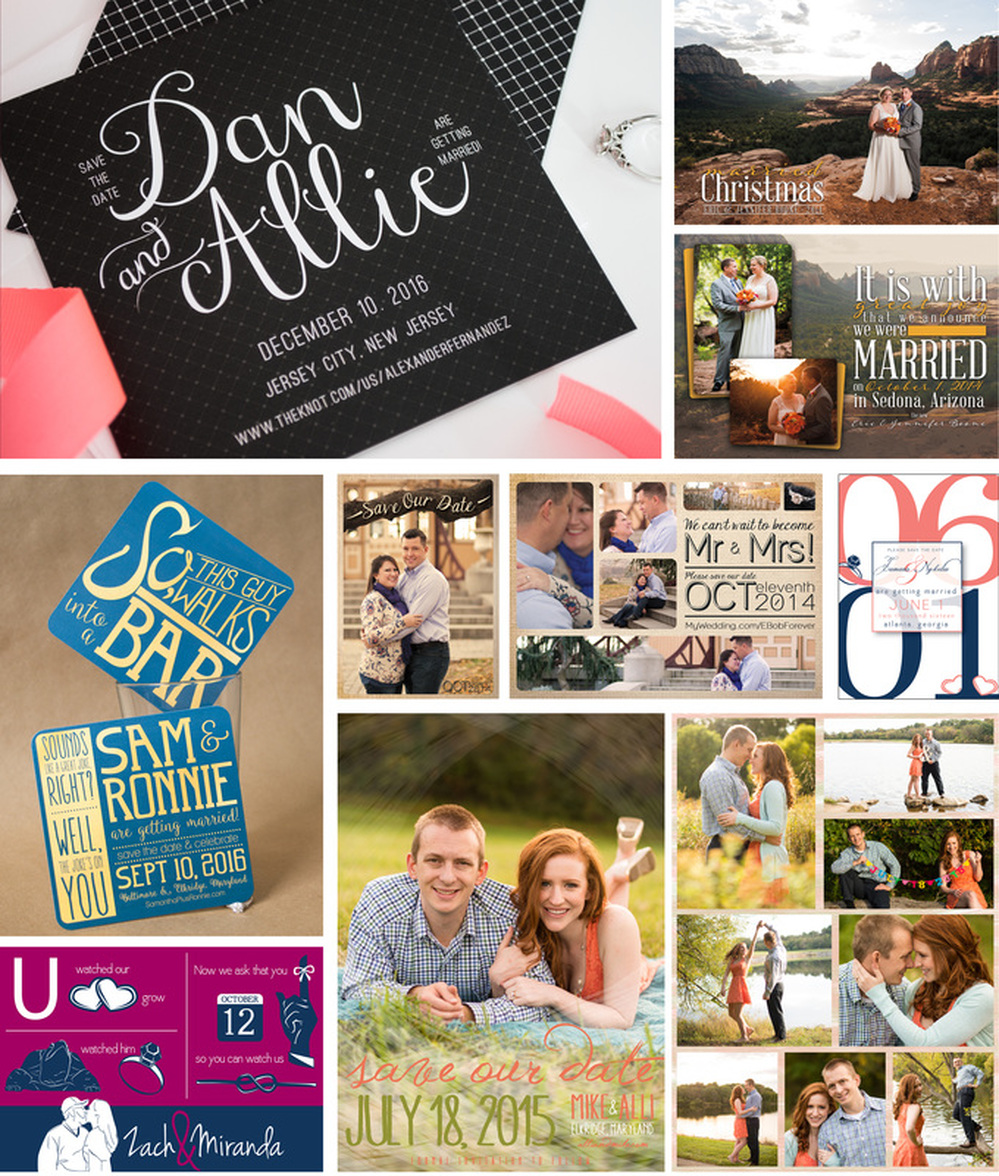 Wedding save the dates by EAlexDesigns