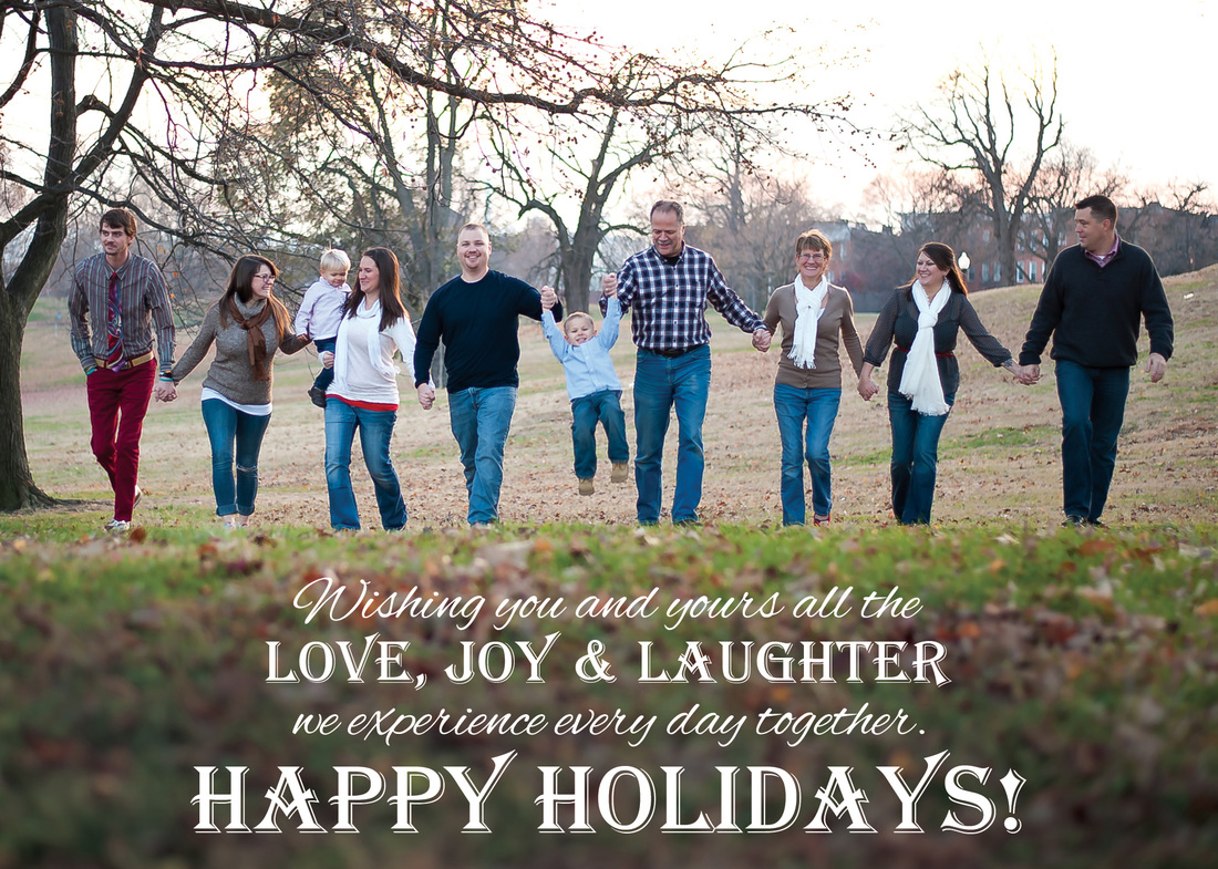 Love, Joy & Laughter Holiday Photo Card by EAlexDesigns