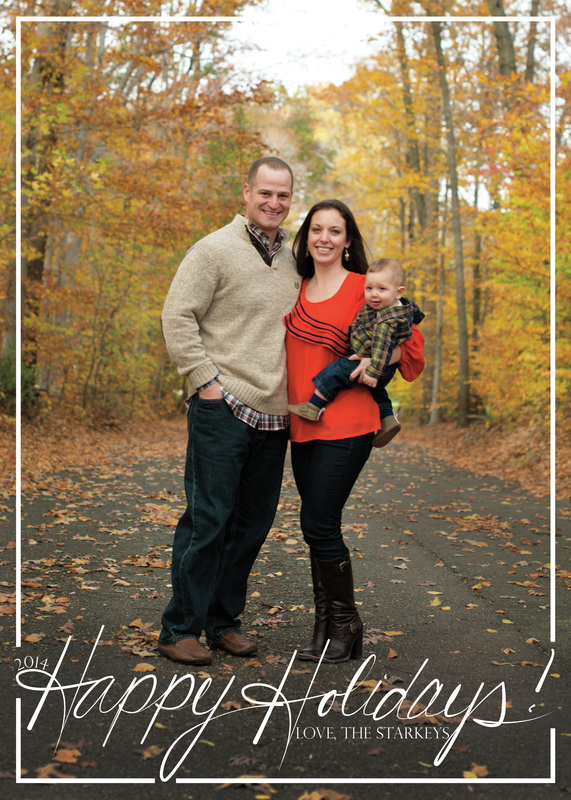 Happy Holidays Custom Type Holiday Photo Card by EAlexDesigns