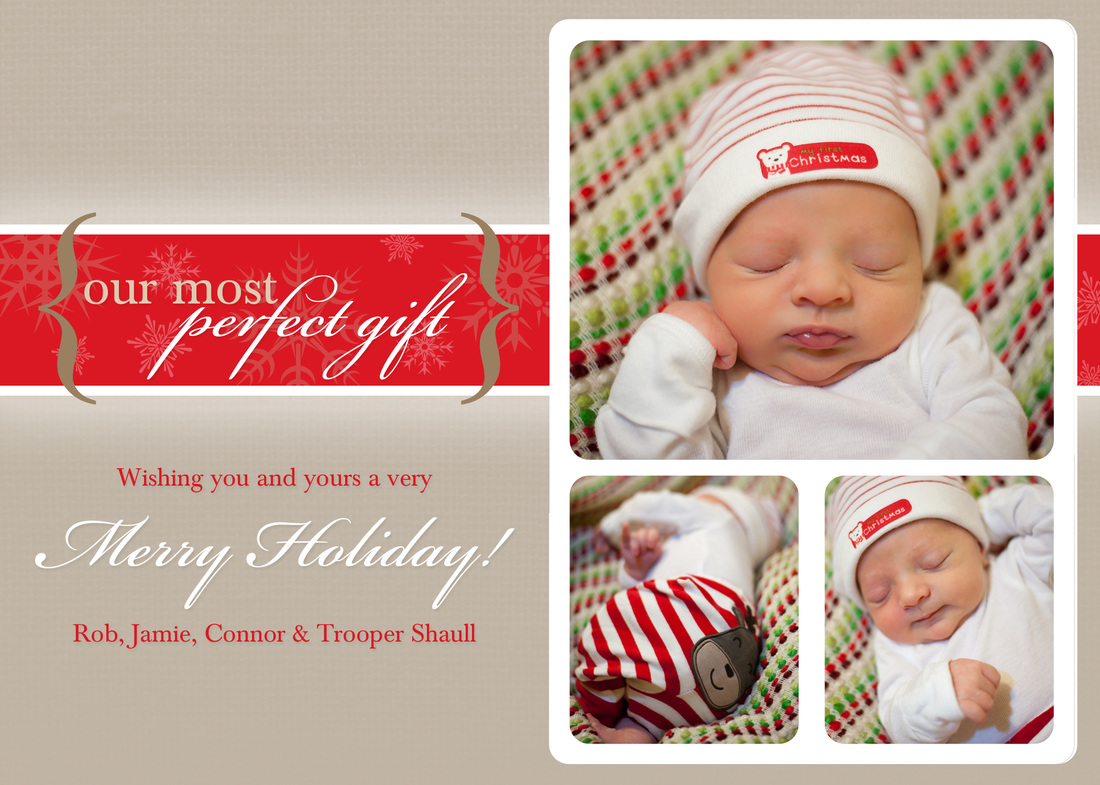Our Most Perfect Gift Holiday Photo Card by EAlexDesigns