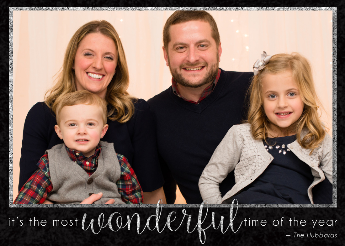 Glitter Chalkboard Holiday Photo Card by EAlexDesigns